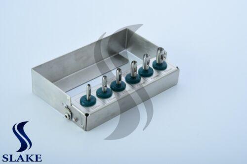 6 Pcs Dental Implant Tissue Punch Kit  set Surgical Surgery With Bur Holder