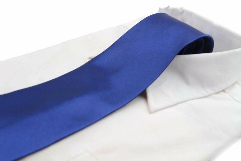 Mens Navy Classic 10cm Plain Neck Tie