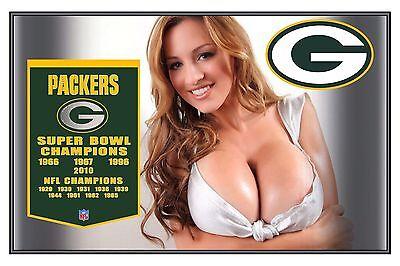 Sexy Sports Girl Green Bay Packers 2 X3  Flexible Fridge Magnet