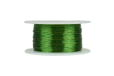 Temco Magnet Wire 28 Awg Gauge Enameled Copper 155c 8oz 994ft Coil Green