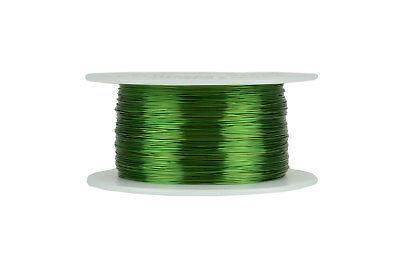 Temco Magnet Wire 28 Awg Gauge Enameled Copper 155c 8oz 994ft Coil Green