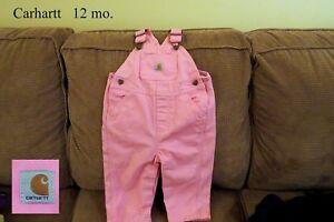 Baby girl carhartt overalls 12 months