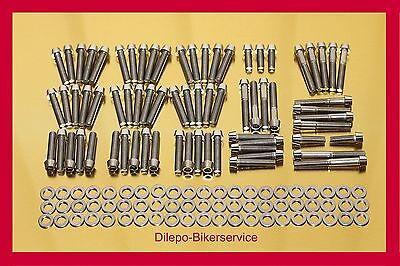 Harley Davidson V-Rod Edelstahl Schraubensatz konisch Motorschrauben 140 Teile ()