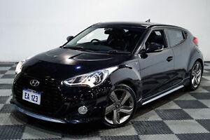 2013 Hyundai Veloster FS MY13 SR Turbo Black/Grey 6 Speed Automatic Coupe