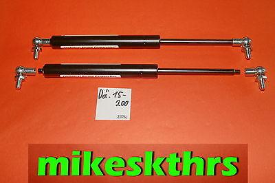 Dä.15-200N 2St.  L= 300mm  Gasdämpfer Gasdruckdämpfer Gasfeder Neu Gasdruckfeder