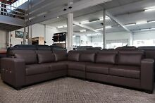 New 6 Seat Corner Lounge Set Brown Bonded Leather WAS $2400 SALE Roselands Canterbury Area Preview