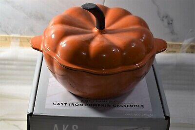 2 qt enameled cast iron pumpkin dutch