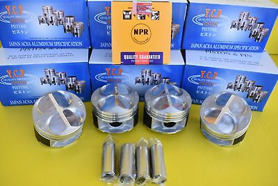 YCP Honda Civic Type R CTR High Compression Pistons + NPR Rings 81MM B16 B18