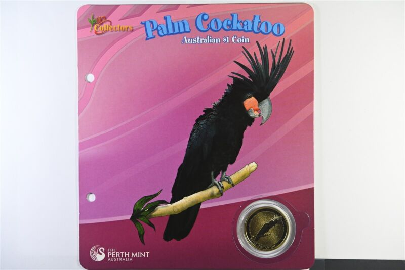 2008 Australian Palm Cockatoo $1 Coin Perth Mint - Young Collectors - UNC