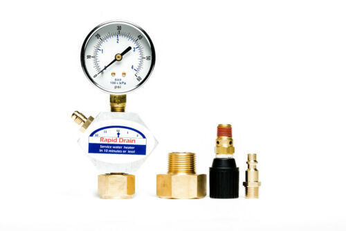 Rapid Drain - Drain hot water heater in 5 minutes or less