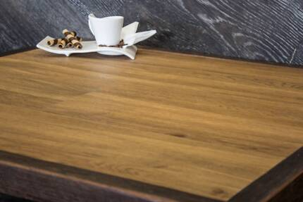 Custom Table Top Packages - Vinyl Plank w/ Solid timber edge