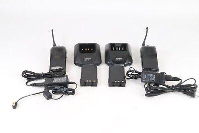 Lot Of 2 Kenwood Tk-360g Uhf Fm Transceiver 2 - Way Radio