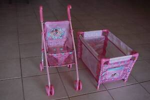 DISNEY 'BABY PRINCESS' STROLLER AND COT SET Ocean Reef Joondalup Area Preview