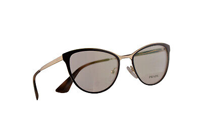 Prada PR55TV Eyeglasses 52-18-140 Brown Pale Gold w/Demo Lens DHO1O1 VPR (Prada Pr 55t)