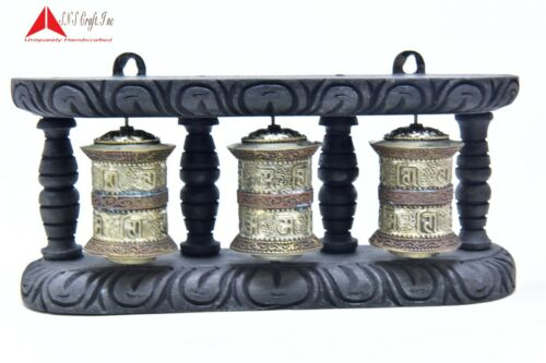 """4"""" Tall Wall Hanging 3 in one  Authentic Buddhist Mantra peace symbol Prayer"""