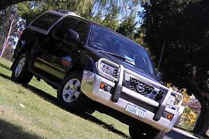 2010 Nissan Navara D40 ST(4x4) black 6 Speed Manual Dual Cab Carlisle Victoria Park Area Preview