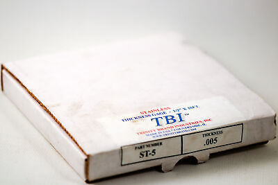 Tbi 0.005 Thickness Feeler Gage Stock Tape 10 Feet Long Labeled Mm And In