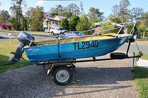12 ft Tinnie, Boat, Dinghie, runabout with Near New 25hp Yamaha Mount Samson Pine Rivers Area Preview