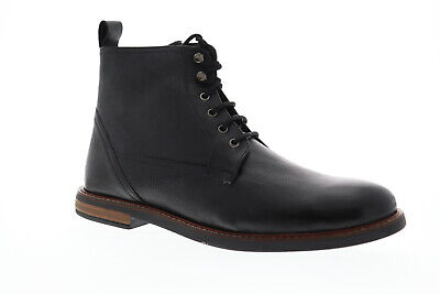 Ben Sherman Brent Plain Toe BNM00150 Mens Black Leather Casual Dress Boots -