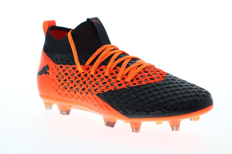 Puma Future 2.2 Netfit FG AG 10483002 Mens Black Athletic Soccer Cleats Shoes