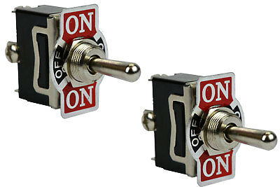 2 Pc 20a 125v Toggle Switch On-off-on Spdt 3 Terminal Switch Momentary 1 Side