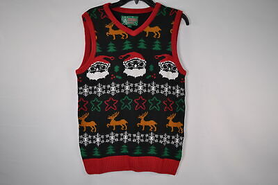 Christmas Sweater Vest (Ugly Christmas Sweater, Men's SYP5-6091VAMZ All Over Sweater Vest,)