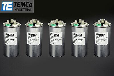 Temco 305 Mfd Uf Dual Run Capacitor 370 440 Vac Volts 5 Lot Ac Motor Hvac 305