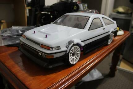 Upgraded 4Wd Hsp Flying Fish Rc Drift Car