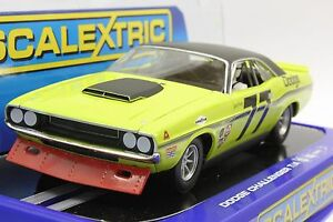 SCALEXTRIC C3419 DODGE CHALLENGER TRANS AM SAM POSEY DPR NEW 1/32 SLOT CAR
