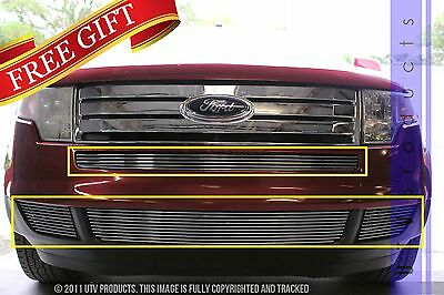Edge Billet - GTG 2007 - 2010 Ford Edge 4PC Polished Overlay Bumper Billet Grille Grill Kit