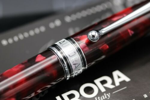 Aurora Optima Burgundy Rollerball Pen - UNUSED 3