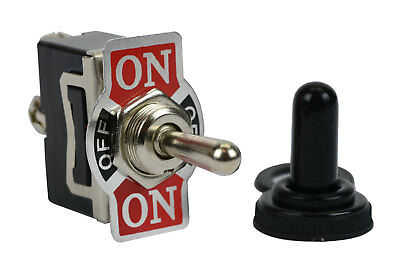 Temco 20a 125v On-off-on Spdt 3 Terminal Toggle Switch With Waterproof Boot Cap