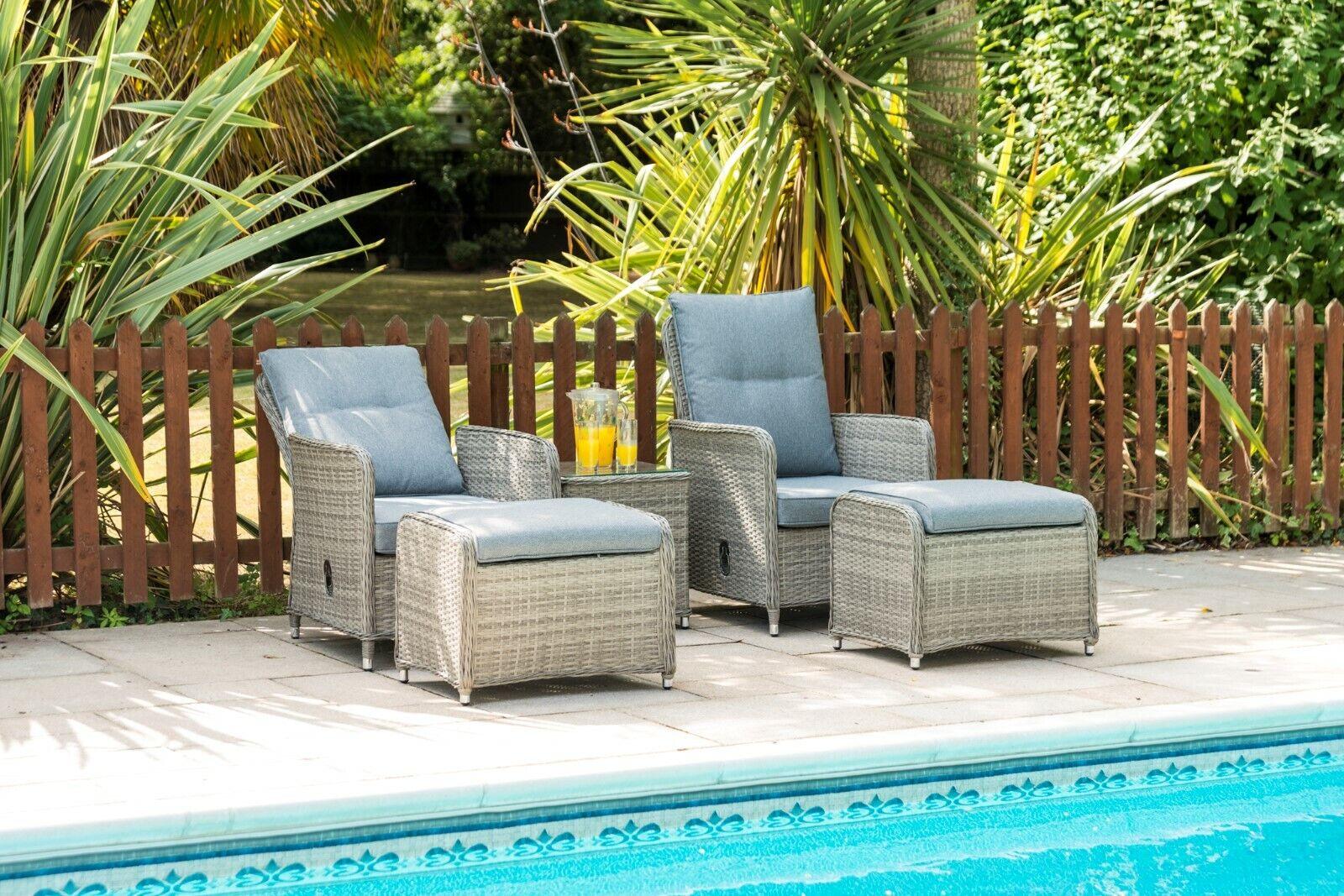 Garden Furniture - Garden Furniture - Reclining Lounger Set