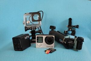 Go Pro Hero 4 silver edition Plus Mounting accessories & Handle Holland Park West Brisbane South West Preview