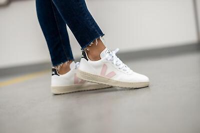 #-- VEJA V-10 Sneaker Wome's Shoes White SZ 37 / 6 US