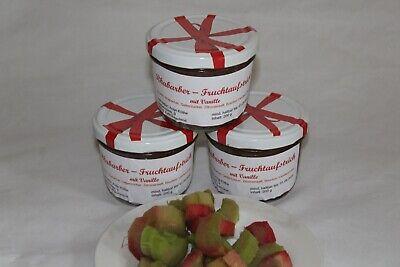 Rhabarber Fruchtaufstrich mit Vanille Marmelade hausgemacht mit Gesundheitspass - Vanille Gesund
