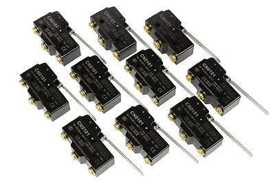 10 Lot Temco Heavy Duty 15a Micro Limit Switch Long Lever Arm Spdt Snap Action