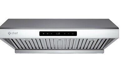Chef PS10 30-inch Under Cabinet Range Hood 900CFM Touch Screen Stainless Steel