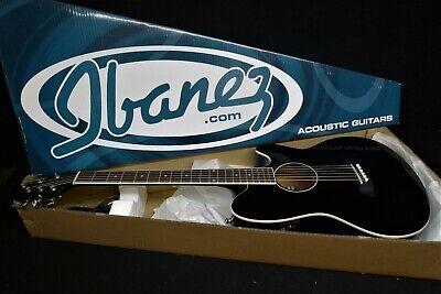 IBANEZ TALMAN TCY10E-BK Acoustic-Electric Guitar BLACK STRAT SHAPE Active EQ