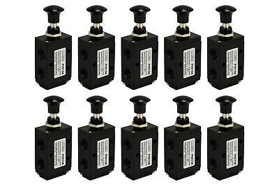 10x Hand Push Pull Pneumatic Air Control Valve 3 Port 3 Way 2 Position 14 Npt