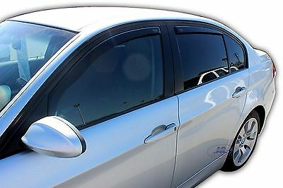 DBM11127  Bmw 3 series E90 4 door saloon  wind deflectors 4pc set TINTED HEKO