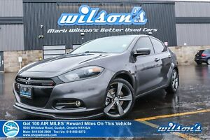2016 Dodge Dart GT MANUAL - Sunroof, Leather, 8.4 Touchscreen, 9