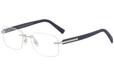 Ermenegildo Zegna Eyeglasses EZ5003 EZ/5003 090 Paladium/Blue Optical Frame 56mm for sale  USA