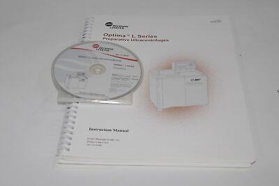 Beckman Optima L Series Preparative Ultracentrifuge Manual Disk Preinstall Safet