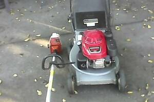 Honda lawn mower with  a cast base and Stihl Whipper Snip Strathpine Pine Rivers Area Preview
