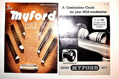 Myford Quick Setting Lathe Tools 1967 Combination Chuck Lathe Brochures Rr851