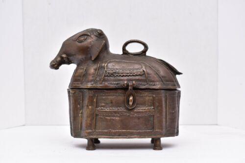 rare antique south Indian Bronze Elephant dowry box antiques decorative art VTG