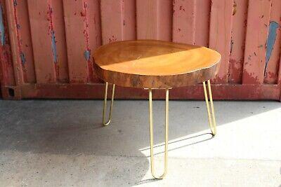 Ahorn Runde Tisch (Couchtisch aus massiver Baumscheibe  mit Hairpinlegs UNIKAT Tisch Wohnzimmer)