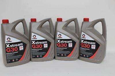 4x NEW COMMA 5L Xstream G30 Vehicle Antifreeze & Coolant Concentrate Oil