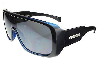 Biohazard Goggle Style Mens Designer Sunglasses Celebrity Shades New Black Blue